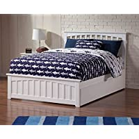 Eco-friendly Full Bed with Urban Trundle Bed (White Finish)