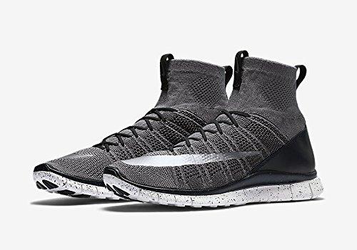 - NIKE Free Flyknit Mercurial CR7 805554-004 Grey/Black/White/Silver Men's Shoes (Size 13)