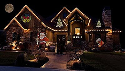 Christmas Projector Lights, EONSMN 12 Replaceable Lens 12 Colorful Patterns Night Lamp for Halloween Xmas Party Wedding Family Garden Decoration