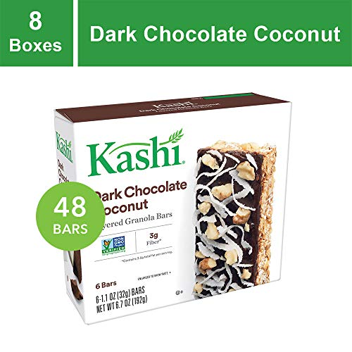 Kashi, Layered Granola Bars, Dark Chocolate Coconut, Non-GMO Project Verified, 6.7 oz, 6 Count(Pack of - Bars Protein Kashi