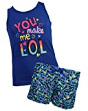 Sleep & Co Girl's 2-Piece Spring Tank and Short Pajama Set, Indigo, Size 10