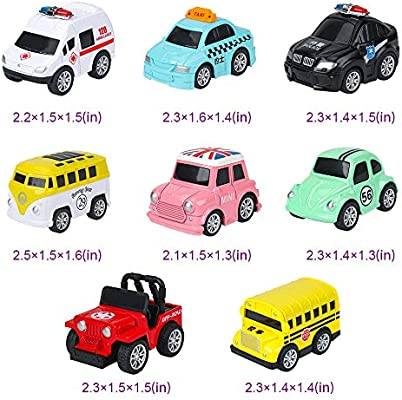 Toys for 3 4-5 Year Old Boys Girls WINONE Pull Back Cars Birthday Party Supplies Easter Egg Filler Party Favors for Kids 12 Pack Kids Toys Vehicles and Racing Cars for Easter Basket Stuffers