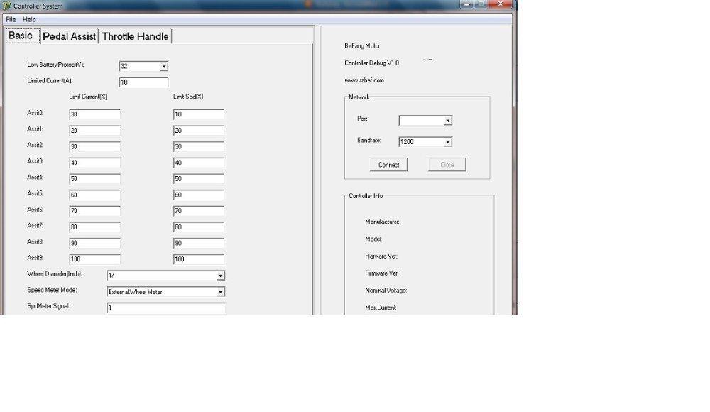 Beautywin Bafang USB Programming Lead for BBS01, BBS02, BBS03/HD 8fun Cable