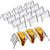 Taco Holders 4 Pack Stainless Steel Taco Holders Stand Taco Rack W Space for 12 to 16 Hard or Soft Shell Tacos Excaoo