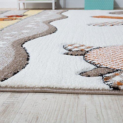 paco home tappeto per bambini  Paco Home Tappeto per Bambini per Cameretta con Divertenti Animali ...