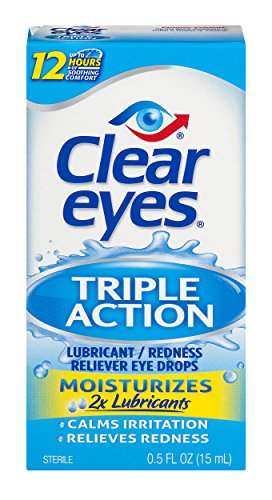 Sterile Eyes Redness Clear Relief (Clear Eyes Triple Action Relief Eye Drops 0.50 oz)