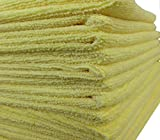 GHP 84-Pcs 16''x16'' Yellow/Gold Ultra Absorbent Microfiber Cloth Cleaning Towels