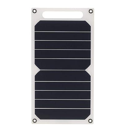 10W 5V Cargador solar portátil para viaje al aire libre Cargador solar para viajes al aire libre con alta eficiencia, carga rápida, tamaño pequeño, ...