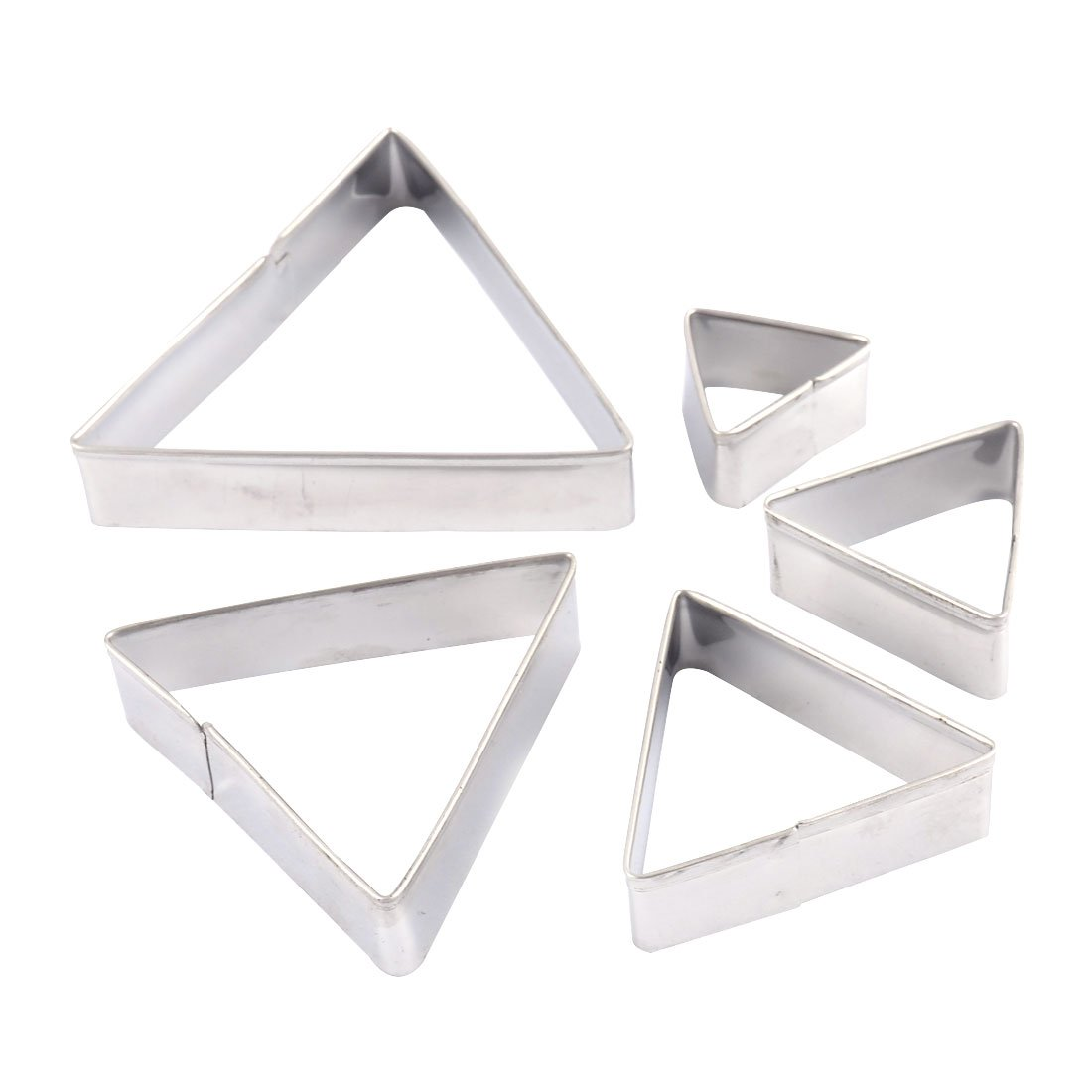 uxcell Cookie Biscuit DIY Triangle Shape Multi-size Mold Cutter Set 5 in 1 a16012100ux0067