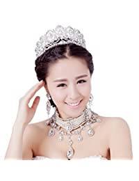 Vintage Peacock Crystal Tiara Bridal Hair Accessories Wedding Quinceanera Rhinestone Tiaras Crowns Pageant