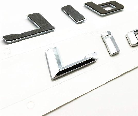Chrome 740i Trunk Emblem Badge Letters For BMW 7-Series Model