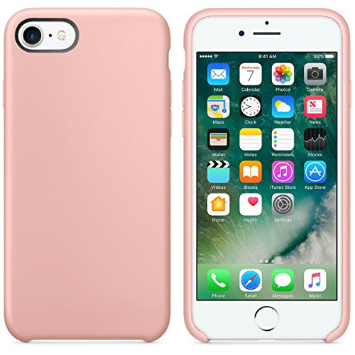 Price comparison product image For iPhone 7,AutumnFall Ultra-thin Slim Silicone Soft TPU Case Cover Skin for Apple iPhone 7 (Pink)