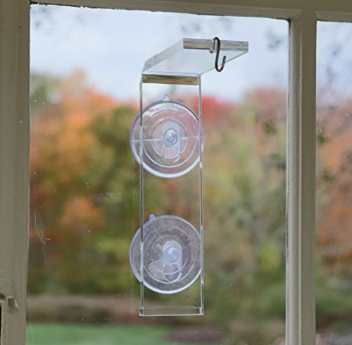 Veg Dangler Suction Cup Window Hanger – For Indoor Plants, Outside Bird Feeders and Wind Chimes. Hang Your Flower, Herb Pots, Terrarium, Air Plants, Suncatchers on Wire, Jute or Macramé. Dependable. (Suncatcher Solar)