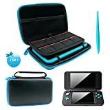 Kyпить 3 in 1 Case for NEW Nintendo 2DS XL - 2DS XL Case with Stylus,2 Screen Protector Film and 8 pcs game card cases - Black на Amazon.com