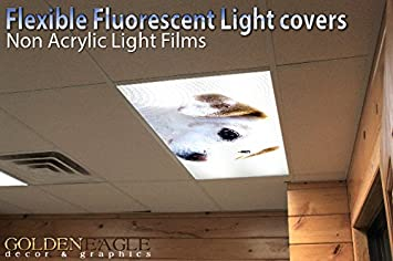 Jack Russell Puppy - 2ft x 4ft Drop Ceiling Fluorescent Decorative ...