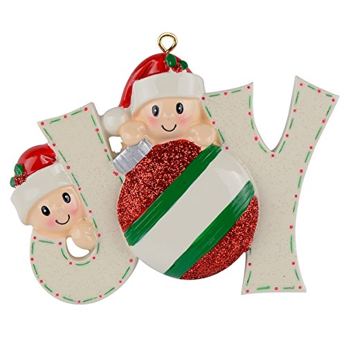 WorldWide Joy Family 2 Personalized Ornaments (Ornament Girl 2)