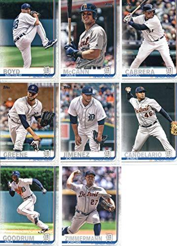 2019 Topps Series 1 Baseball Detroit Tigers Team Set of 10 Cards: Matthew Boyd(#93), James McCann(#155), Michael Fulmer(#173), Nicholas Castellanos(#209), Jeimer Candelario(#211), Joe Jimenez(#217), Shane Greene(#229), Miguel Cabrera(#230), Jordan Zimmermann(#249), Niko Goodrum(#251)