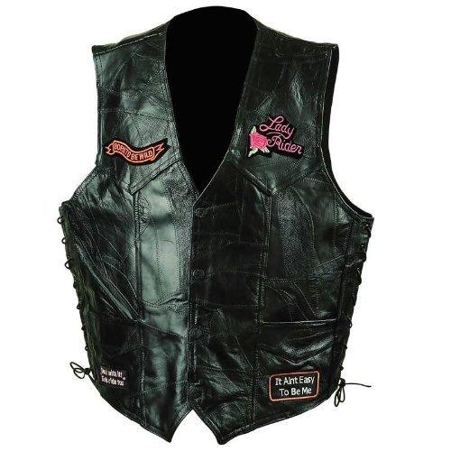 Leather Ladies Vest (Rock Leather Ladies Vest - 2X)