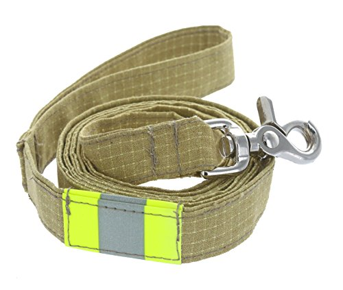 Personalized Firefighter Dog Leash made from New Turnout Bunker Gear Material