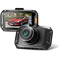 Car DVR Traveling Driving Data Recorder Camcorder Vehicle Camera with GPS Adaptor-HDR Super Night Vision, 170° Wide Angle, G-Sensor & Parking Monitor by E-Farmunion