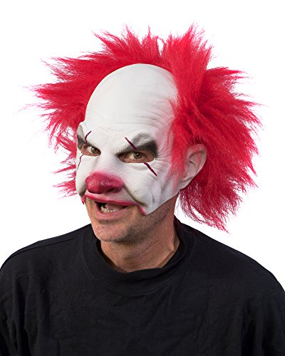 Zagone Studios Carnival Creep Evil Scary Clown Mask White ()