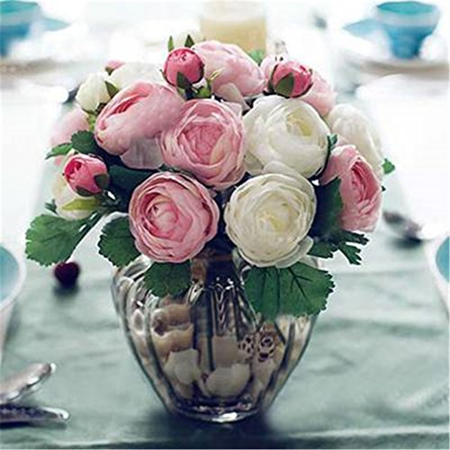 10Pcs Artificial Rose Flowers Camellia Hands Holding Silk Flower Bridal Bridesmaid Bouquet Latex Real Touch Floral Wedding Party