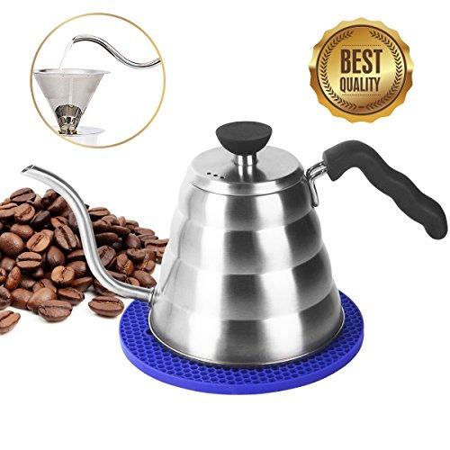 Kaffeekanne Wasserkessel Teekessel 1,2 L Handbrüh-Kaffeekessel aus Edelstahl