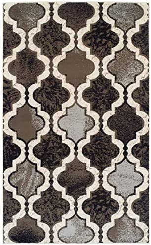 Superior Viking Area Rug Bold Trellis Vintage Pattern