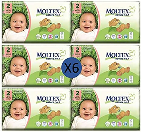 Moltex Nappies Size 2 Mini Bio 2 x 42