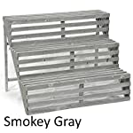The Lucky Clover Trading Wooden Three Step Display Stand, Smokey Grey