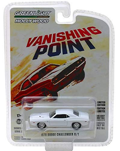1970 Dodge Challenger R/T White Vanishing Point (1971) Movie Hollywood Series 22 1/64 Diecast Model Car by Greenlight 44820 A ()