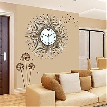 WYF-GZ Uhr Wanduhr Wohnzimmer Modern minimalistischen europäischen kreative  Mode Persönlichkeit Uhr Schlafzimmer Ruhige Quarz-Uhr (größe : 10 * 10)