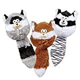 Zanies Funny Furry Fatties Pet Dog Toys 48 Piece Multi Style Refill