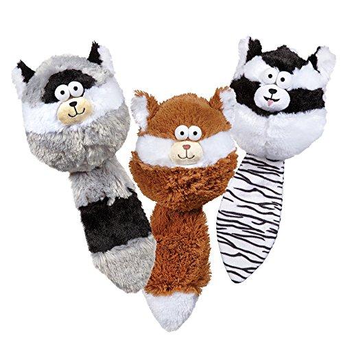Zanies Funny Furry Fatties Pet Dog Toys 48 Piece Multi Style Refill