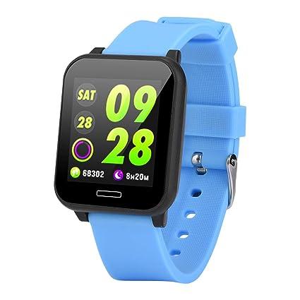 Eboxer Reloj de Pulsera Inteligente Bluetooth de Rastreador de Ejercicios a Prueba de Agua,IP67