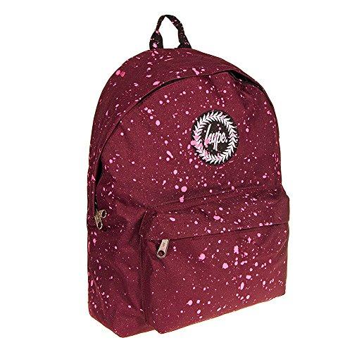 Hype mochila | Mochila Unisex Designer bolsa bandolera de lona para la escuela | Just bolsas de Hype Speckled - Burgundy