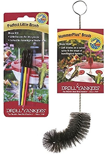 Droll Yankees Brush Bundle - PLB Perfect Little Brushes and Hummerplus Brush For Hummingbird Feeders by Droll Yankees