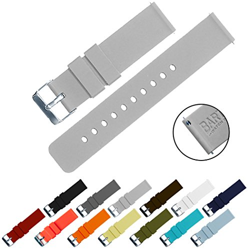 BARTON Quick Release - Choose Color & Width (16mm, 18mm, 20mm, 22mm) - Cool Grey 20mm Watch Band Strap