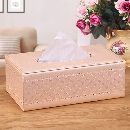 WEILIVE Tissue Box Cover Halter Leder Tissue Box Servietten Tablett Couchtisch Wohnzimmer Auto einfach und reizend Taschentuchhalter (Farbe   schwarz) B07MVX7VWC Toilettenpapieraufbewahrung
