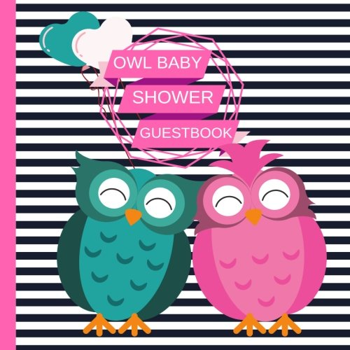 Owl Baby Shower Guest book: Beautiful Baby Shower