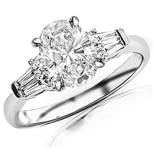 0.5 Ct Oval Diamond - 1