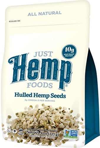 Just-Hemp-Foods-Hulled-Hemp-Seeds-8oz-Non-GMO-Verified-with-10g-of-Protein-Omegas-per-Serving