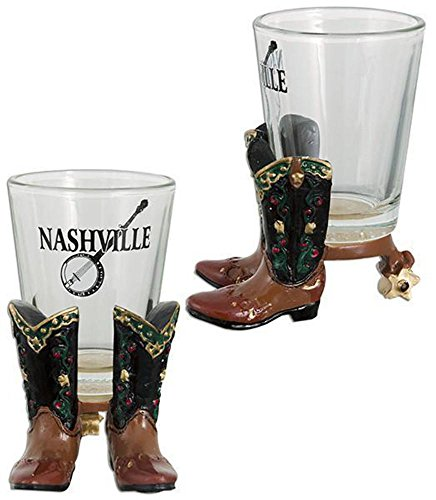 GLNT04 Shot Glass Polyresin Boots -