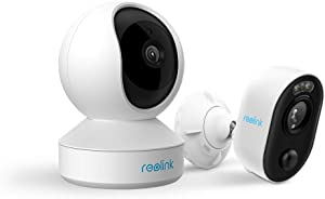 Reolink Indoor Outdoor Security WiFi Camera Bundle: 4MP HD Pan Tilt Camera, 1080P HD Spotlight Camera
