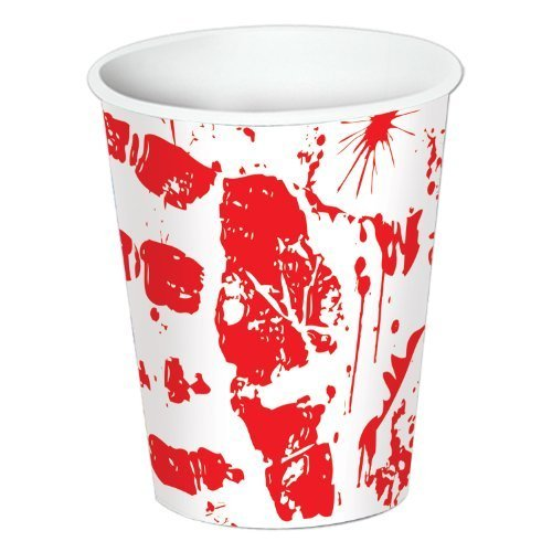 Bloody Handprints Cups 9 Oz