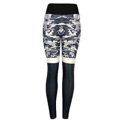 91070d1d156d8 Amazon.com: AgrinTol Yoga Pants, Women's Printed Leggings Camouflage High  Waist Pleated Sports Yoga Pants: Sports & Outdoors