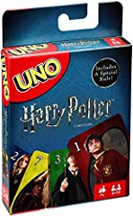 It's the fun, fast-paced card game you love now featuring iconic characters from the world of Harry Potter! Join Harry, Hermione, Ron, Professor Dumbledore and more of your favorite characters from Hogwarts for a night of UNO gameplay. Player...