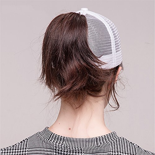 2018 Ponytail Baseball Cap Women Messy Bun Baseball Hat Snapback black by Gome-z Snapback (Image #3)