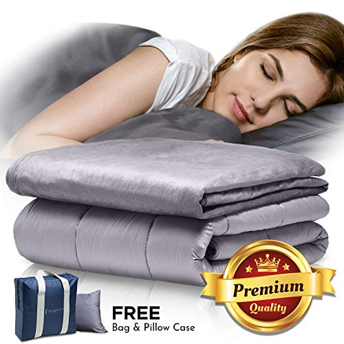 Wash Blanket Mink - Snuggle Pro Weighted Blanket Adult - 15 lbs Heavy Blanket for Sleeping, 60