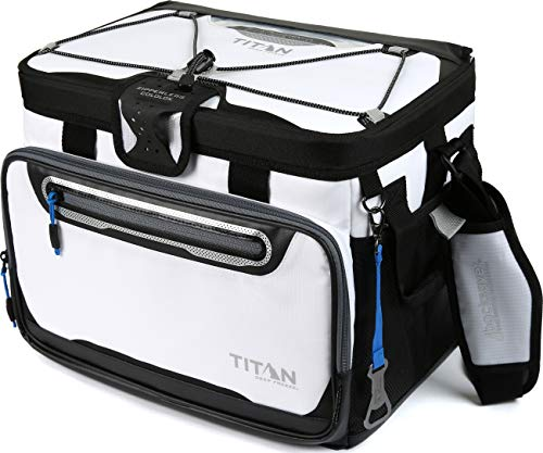 Arctic Zone Titan Deep Freeze 30 Can Zipperless Cooler, White - Plus Performance Paddle